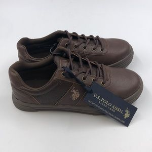 New boys us polo assn shoes style helm brown